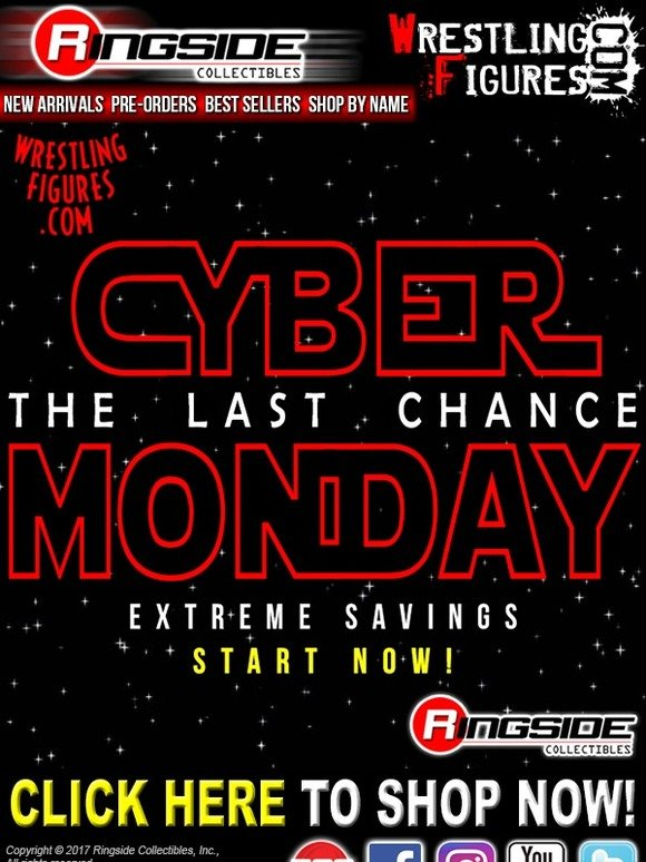 Ringside Collectibles: Cyber Monday 4 0 Sale is LIVE at