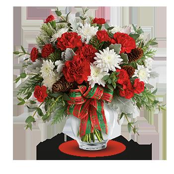 Telefloras Classic Pearl Ornament Bouquet