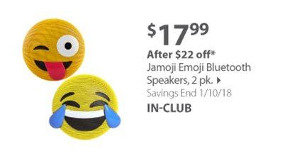 Jamoji Emoji Bluetooth speakers