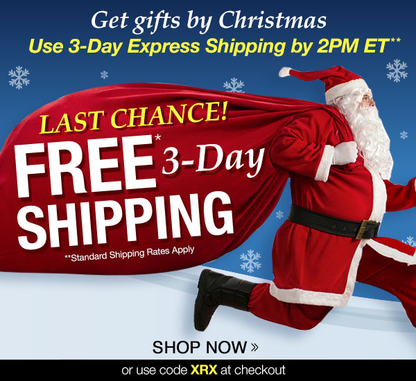 FREE* 3-Day Shipping!