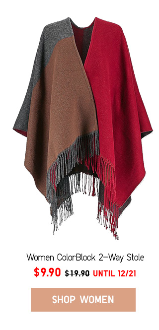 GOING SOMEWHERE - Women ColorBlock 2-Way Stole  NOW $9.90 - Shop Now