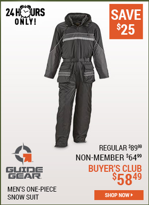 Guide Gear Men's One-Piece Snow Suit