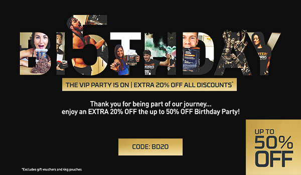 BIRTHDAY BASH + EXTRA 20% OFF