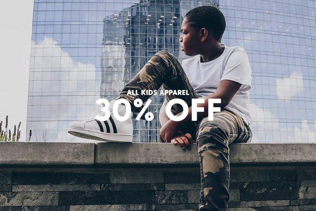 Kids Apparel 30% Off