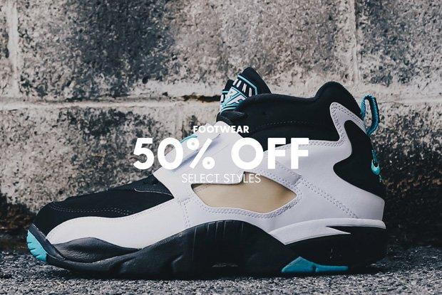 Footwear 50% Off