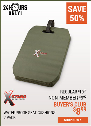 X-Stand Waterproof Seat Cushions, 2 Pack