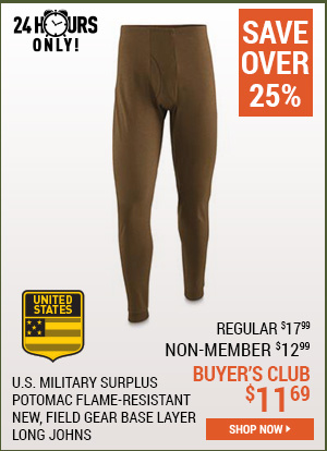 U.S. Military Surplus Potomac Flame-Resistant Field Gear Base Layer Long Johns, New
