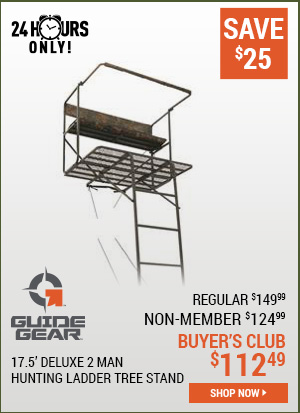 Guide Gear 17.5 Foot Deluxe 2 Man Hunting Ladder Tree Stand