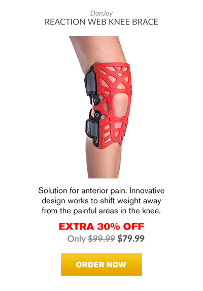 Extra 30% OFF - Donjoy Reaction Web Knee Brace