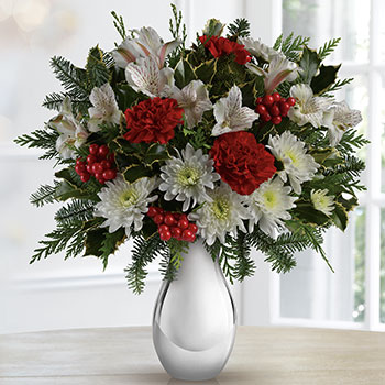Teleflora's Silver and Snowflake Bouquet