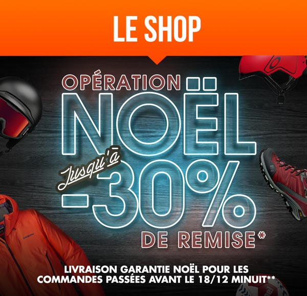 Spcial Noel sur Le Shop: jusqu' -30% sur une slection d'articles. Livraison garantie Nol pour les commandes passes avant le 18/12 Minuit