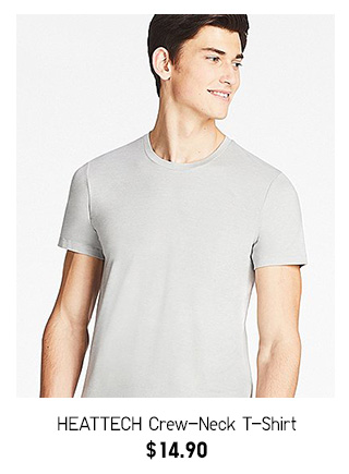 HEATTECH T-Shirt  NOW $14.90  SHOP MEN'S HEATTECH