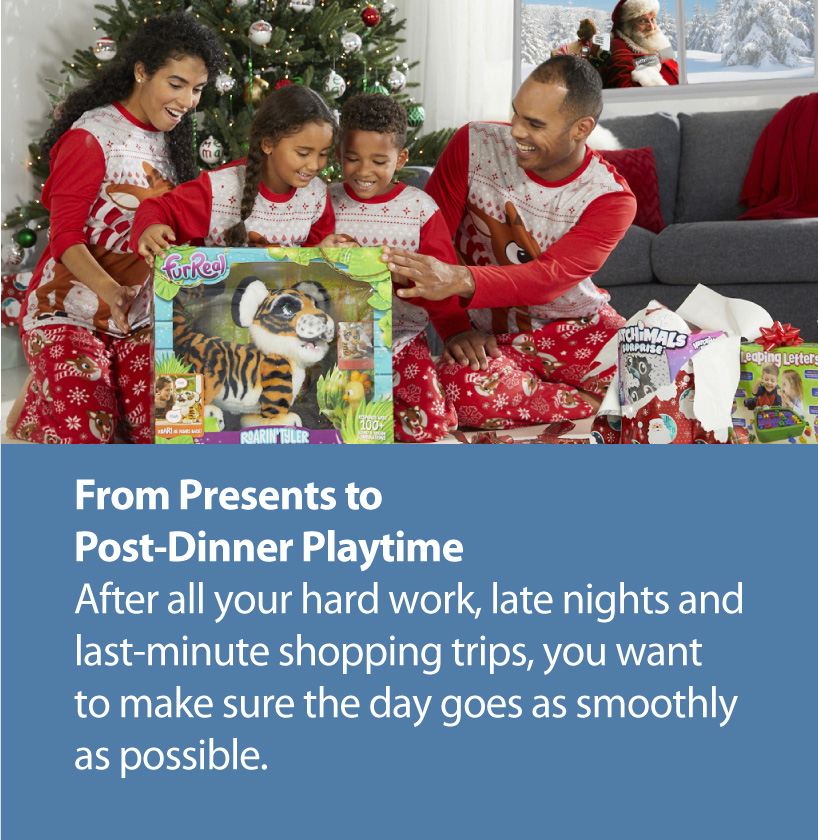 Presents to playtime