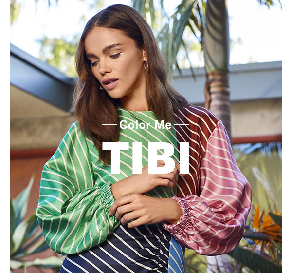 Color Me Tibi - Let the label's dreamy, artist-inspired collection brighten up your whole wardrobe.