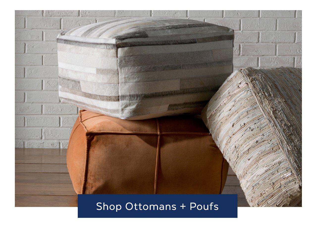 Ottomans + Poufs