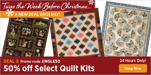 Keepsake Quilting: Cut Your Quilt Kit Price in Half ✂   Milled : quilt deal of the day - Adamdwight.com