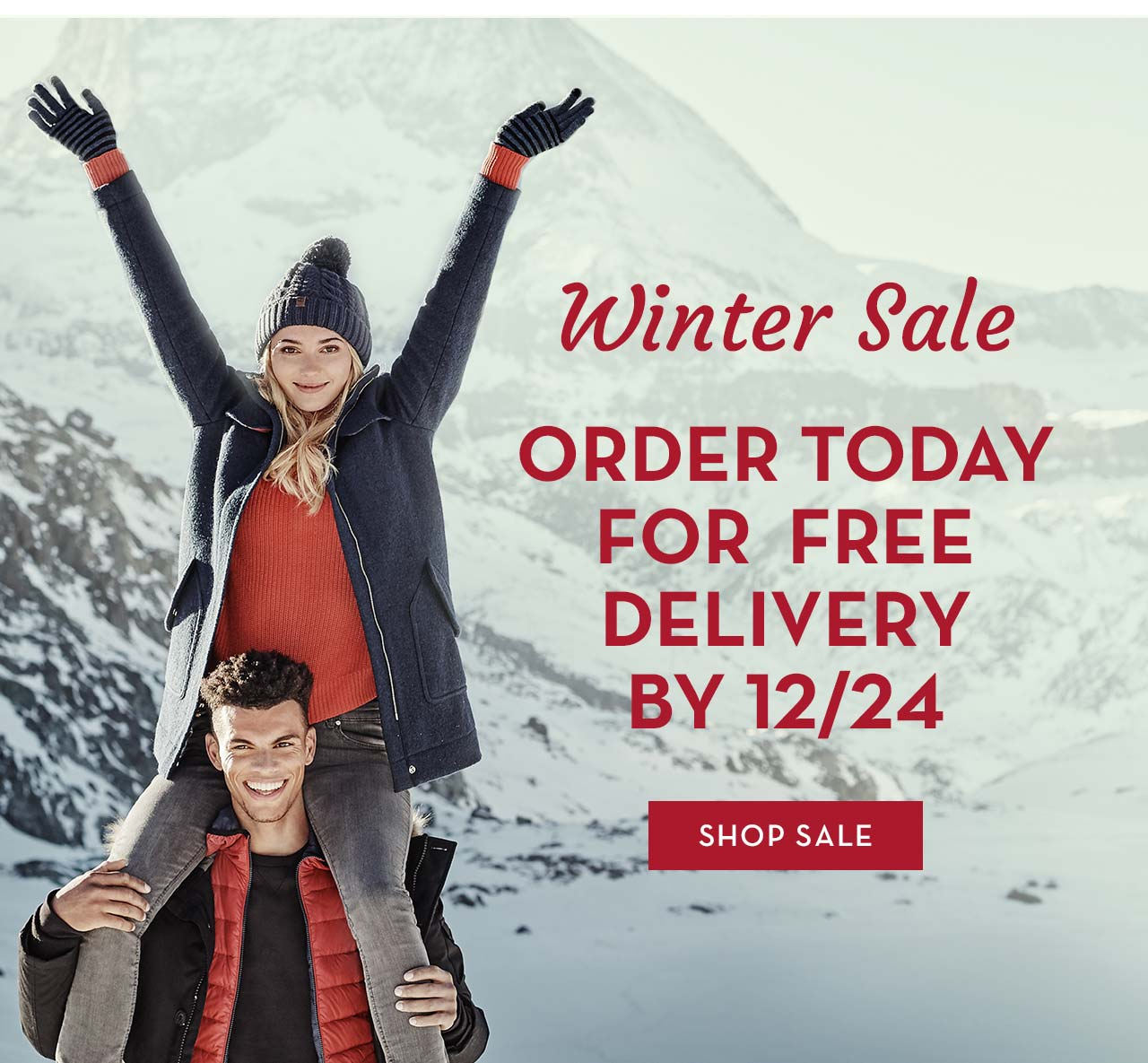 Winter Sale Order Today For Free Delivery By 12/24 Shop Sale