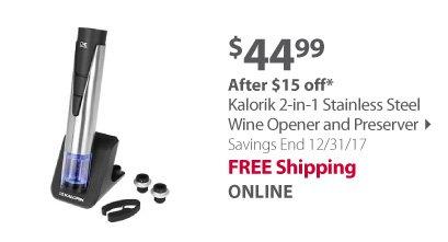 Kalorik Wine Opener