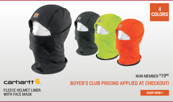 Carhartt Fleece Helmet Liner With Face Mask