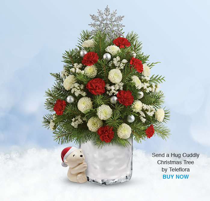 Send a Hug Cuddly Christmas Tree by Teleflora