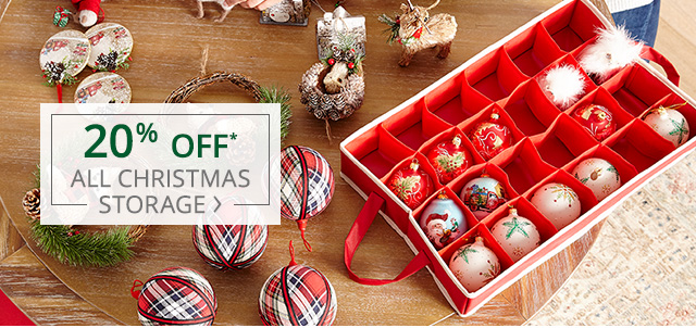 20% off all Christmas storage.