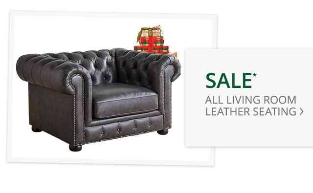 Sale all living room leather seating.