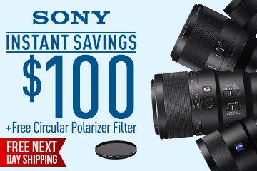 Sony Lens Banner