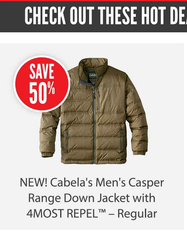 Cabela's Men's Casper Range Down Jacket