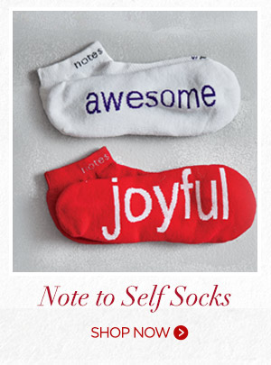 Notes to Self Socks. Shop now.