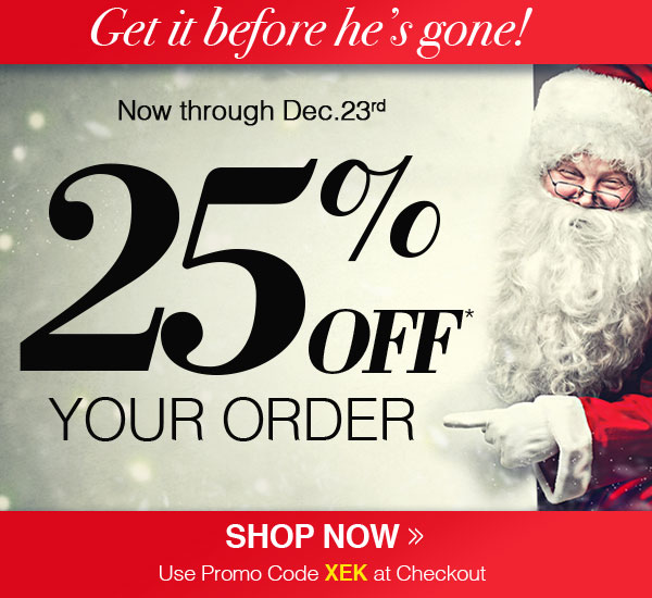25% OFF your order!