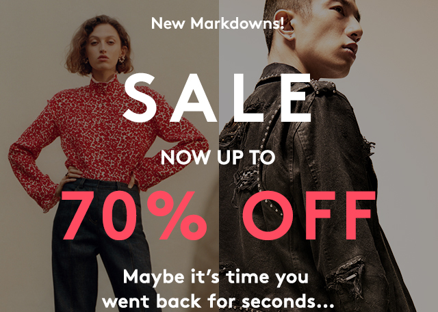 Balmain, Amiri, Maison Margiela and more are now up to 70% off..