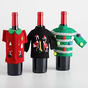 Ugly Sweater Wine Bottle Outfits