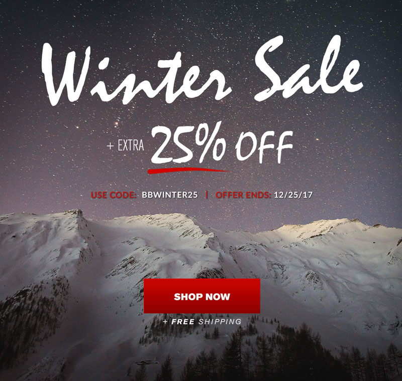 Winter Sale - Extra 25% Off + Free Shipping