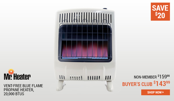 Mr. Heater Vent-free Blue Flame Propane Heater, 20,000 BTUs