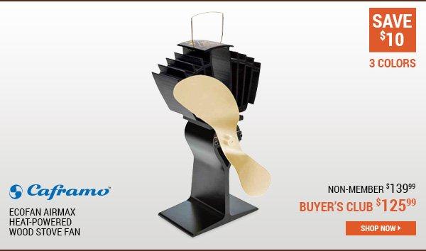 Caframo Ecofan AirMax Heat-Powered Wood Stove Fan