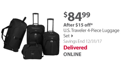 U.S Traveler 4-piece set