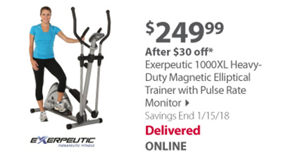 Exerpeutic Elliptical Trainer