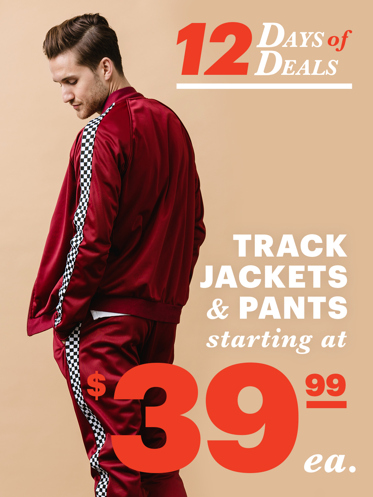 12 Days Of Deals: Day 9 Track Jackets and Pants Starting at $39.99