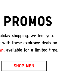 Weekly Promos - SHOP MEN