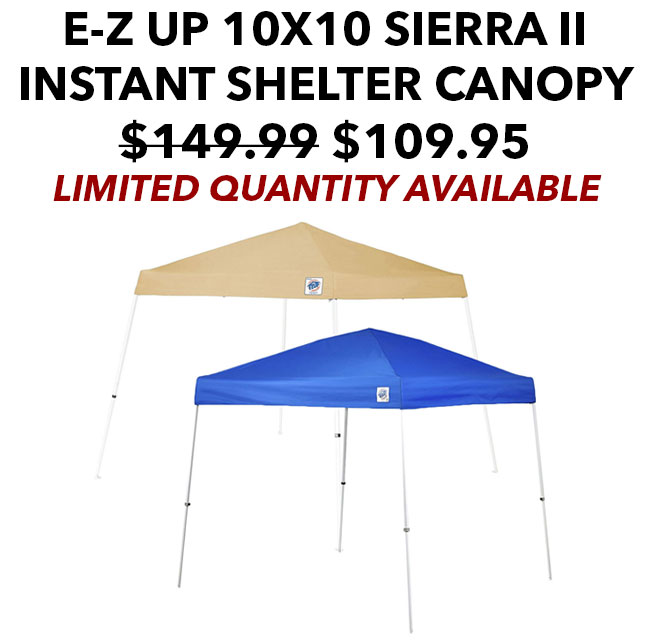 Botach Tactical Flash Sale - E-Z UP 10x10 Sierra II Instant Shelter Canopy | Milled  sc 1 st  Milled & Botach Tactical: Flash Sale - E-Z UP 10x10 Sierra II Instant ...