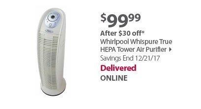 Whirlpool Whispure True HEPA Tower Air Purifier