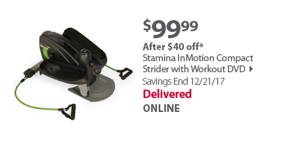 Stamina InMotion Compact Strider with Workout DVD