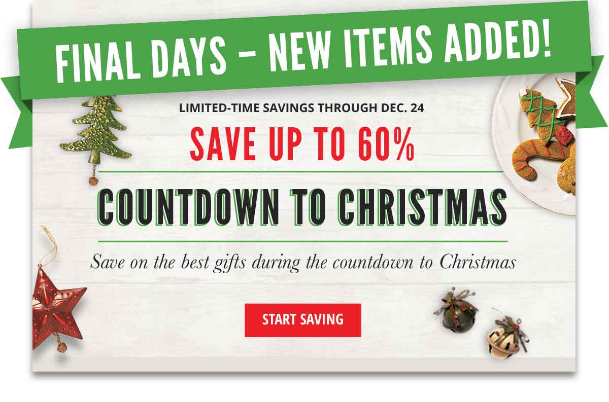 Christmas Countdown Final Days - New Items Added!