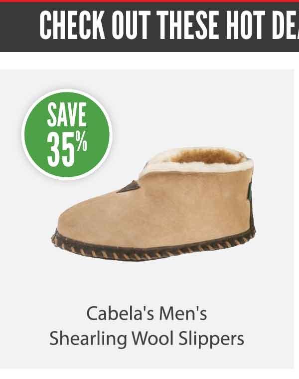Cabela's Men's Shearling Wool Slippers