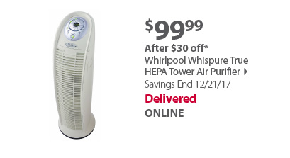 Whirlpool Whispure True HEPA Tower Air Purifier