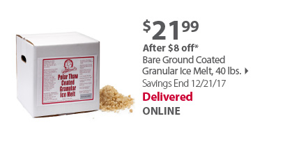 Bare Ground Coated Granular Ice Melt, 40 lbs.