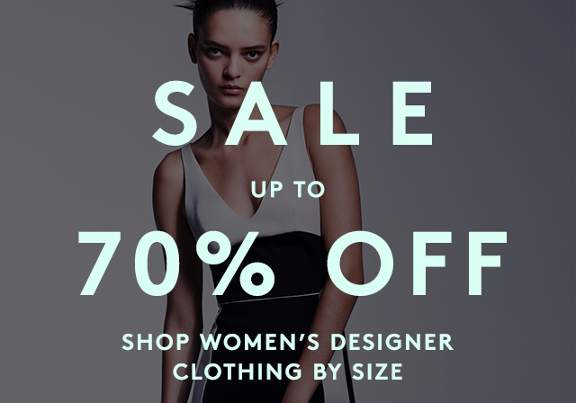 Discover designer coats, sweaters, jeans and more in our Designer Sale..