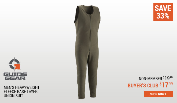 Guide Gear Men's Heavyweight Fleece Base Layer Union Suit