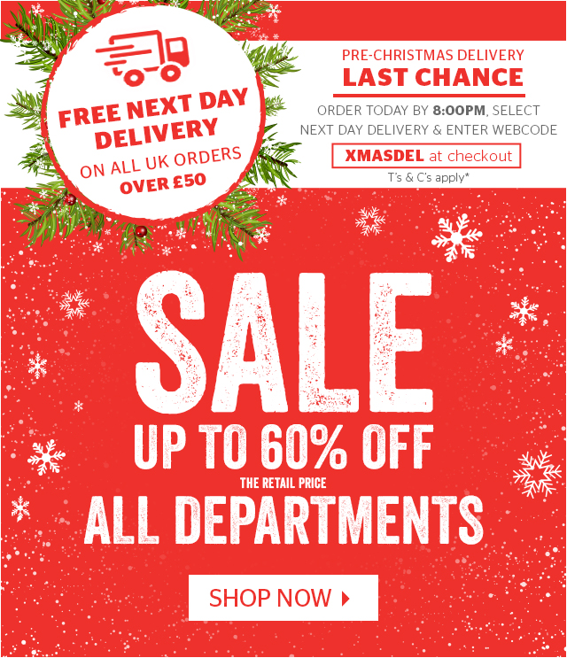 Sale - Up To 60% Off All Departments
