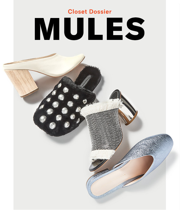 Closet Dossier: Mules - 4 of our favorite slide-on shoes (and how to style them).